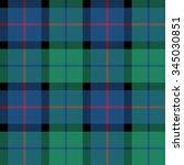 flower of scotland tartan...   Shutterstock .eps vector #345030851