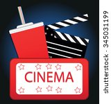 cinema background | Shutterstock .eps vector #345031199
