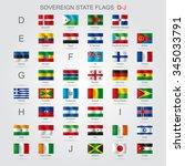 set of world sovereign state... | Shutterstock .eps vector #345033791