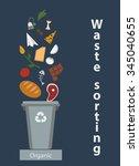 waste sorting  organic waste ...   Shutterstock .eps vector #345040655