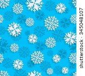 seamless snowflakes background... | Shutterstock .eps vector #345048107