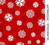 seamless snowflakes background... | Shutterstock .eps vector #345048149