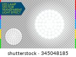 glow led lamp light effect.... | Shutterstock .eps vector #345048185