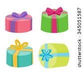 christmas or birthday presents... | Shutterstock .eps vector #345051587