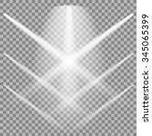 set of white spotlights...   Shutterstock . vector #345065399