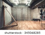 empty boxing area in the gym.... | Shutterstock . vector #345068285