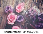 Vintage Roses On The Jar