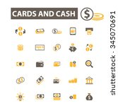 cards  cash  money  payment ... | Shutterstock .eps vector #345070691