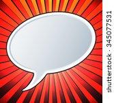 empty speech bubble template.... | Shutterstock .eps vector #345077531