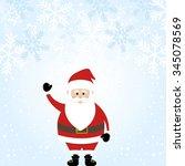 lovely santa claus in wintry... | Shutterstock .eps vector #345078569