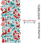 design with christmas elements | Shutterstock .eps vector #345078851