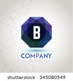 letter b alphabet logo icon... | Shutterstock .eps vector #345080549
