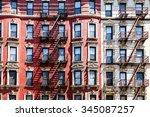 new york city apartment... | Shutterstock . vector #345087257