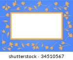 blue frame with flowers. vector | Shutterstock .eps vector #34510567
