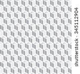 vector seamless cube 3d pattern.... | Shutterstock .eps vector #345112904