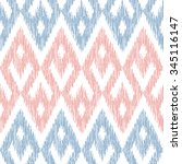 seamless faux ikat tribal... | Shutterstock .eps vector #345116147
