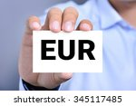 eur letters  euro currency code ... | Shutterstock . vector #345117485