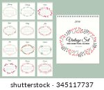 Calendar With Floral Collection