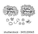 little prince and little... | Shutterstock .eps vector #345120065