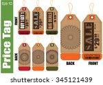 set of sale tag or sale labels... | Shutterstock .eps vector #345121439