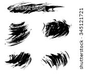 vector set of grunge brush... | Shutterstock .eps vector #345121721