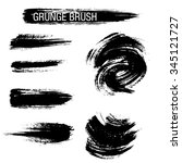 vector set of grunge brush... | Shutterstock .eps vector #345121727
