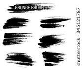 vector set of grunge brush... | Shutterstock .eps vector #345121787