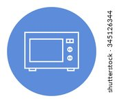 microwave oven linear icon. | Shutterstock .eps vector #345126344