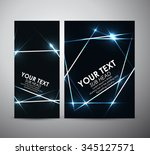 abstract blue shining. brochure ... | Shutterstock .eps vector #345127571