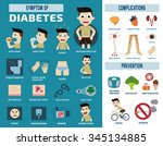 diabetic infographic health... | Shutterstock .eps vector #345134885