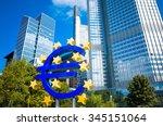 frankfurt  germany august 16  ... | Shutterstock . vector #345151064