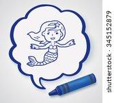 mermaid doodle | Shutterstock . vector #345152879