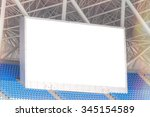 electronic billboard display at ... | Shutterstock . vector #345154589
