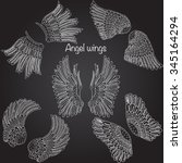 Collection Of Hand Drawn Angel...