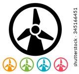 wind turbine icon    Shutterstock .eps vector #345166451
