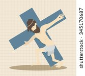 easter jesus theme elements | Shutterstock .eps vector #345170687