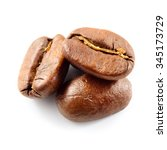 coffee beans isolated on white. | Shutterstock . vector #345173729