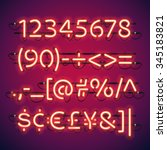 Glowing Neon Bar Numbers. Used...