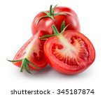Tomato Isolated On White. With...