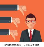 angry businessman and many...   Shutterstock .eps vector #345195485