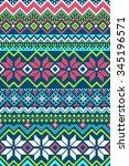 pixel bright seamless pattern... | Shutterstock .eps vector #345196571