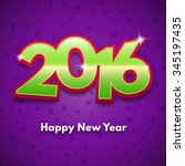 new year 2016 fun greeting card | Shutterstock .eps vector #345197435