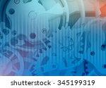 background gears mechanism of...   Shutterstock . vector #345199319