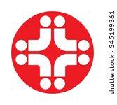 cross medical logo vector. | Shutterstock .eps vector #345199361