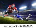 american football players in... | Shutterstock . vector #345203015