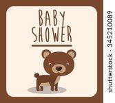 baby shower invitation design ... | Shutterstock .eps vector #345210089