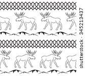 Deer Tribal Vector Seamless...