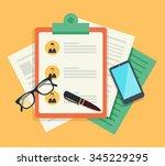 human resources. vector flat... | Shutterstock .eps vector #345229295
