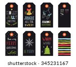 collection of christmas gift... | Shutterstock .eps vector #345231167