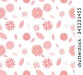 seamless pink flower pattern on ... | Shutterstock .eps vector #345231455